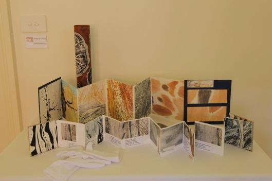 Richard Sullivan's table of art books.