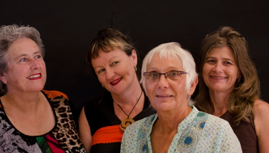 reiteration - artists sally roadknight, julie patey, georgina duckett, sandra tobias at newstead artshub exhibition opening